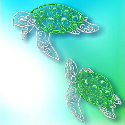 Fancy Turtles  10 MACHINE EMBROIDERY DESIGNS CD or USB