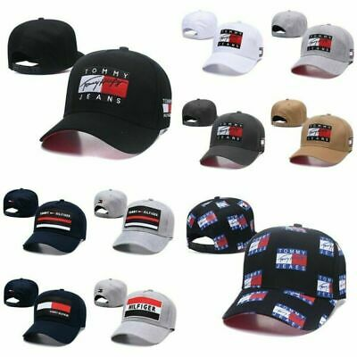 Unisex Tommy Jeans Snapback Hip Hop Hat Casual Embroider Sport Baseball Cap UK
