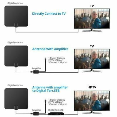 NEW Digital HDTV TV Antenna Amplified 75 Mile Range 4K HD VHF UHF Freeview 2019