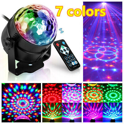 USB Disco Party DJ LED RGB Stage Effect Light Lamp Laser Crystal Magic Ball AU