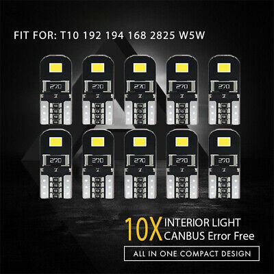10X Canbus T10 W5W 192 168 194 LED Light Xenon White 6000K 2835-SMD Bulbs CHH