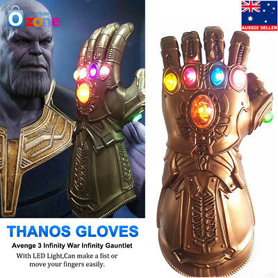 Avenge 3 Infinity War Gauntlet LED Cosplay Thanos Gloves 3L