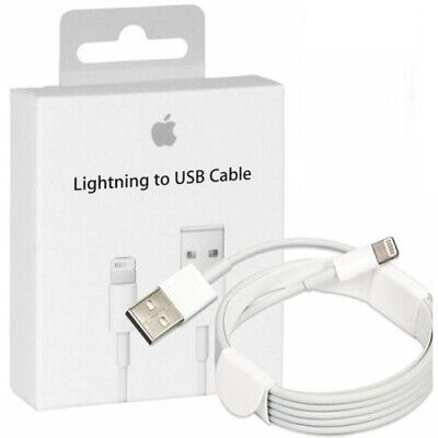BOXED Genuine Apple iPhone 1M 2Meter Sync Charger Cable for 5C 6 7 X XI Max iPad
