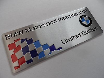 "BMW Motorsport ""Limited Edition"" Alu 3D Aufkleber, Sticker, M Power Performance"