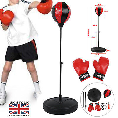 Kids Children's Free Standing Junior Boxing Punch Bag Ball Gloves Gift Set P3