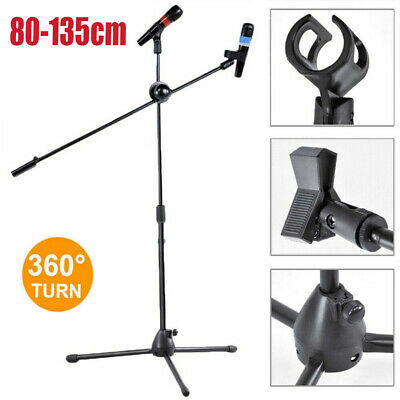 Professional Boom Microphone Mic Stand Holder Adjustable With Free Clips P3
