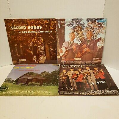(4) Don Reno & Red Smiley And The Gang Bluegrass Record Album Lp Lot