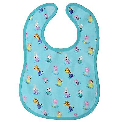 Peppa Pig Collection A29662 Peppa Pig and Friends Print Childrens Bib