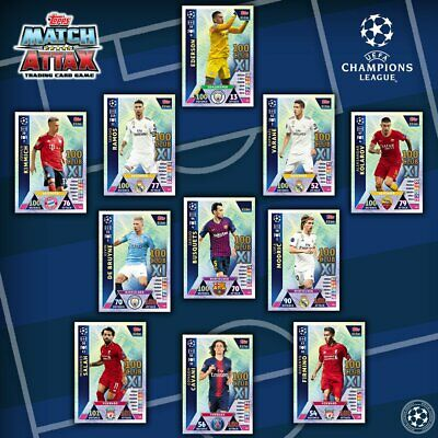 Match Attax Champion League 2018/19 18/19 Full Sets Hat Trick Hero 100 Clubs