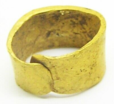 9th - 11th century Scandinavian Viking Gold Beard Ring in excavated condition
