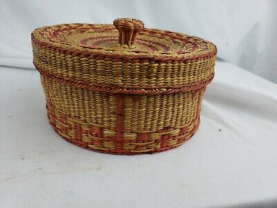 Nice native american? covered weaved box