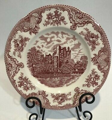 """Johnson Brothers """"Old Britain Castles"""" Pink 10""""  Dinner Plates - Set Of 2"""