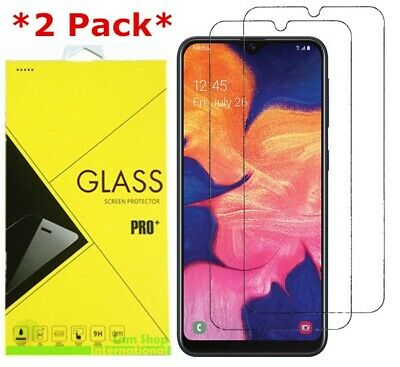 2-Pack For Samsung Galaxy A10e 9H Clear Premium Tempered Glass Screen Protector