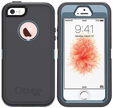OtterBox Defender Case for iPhone SE, 5s & 5 - Easy-Open Packaging - Steel Berry