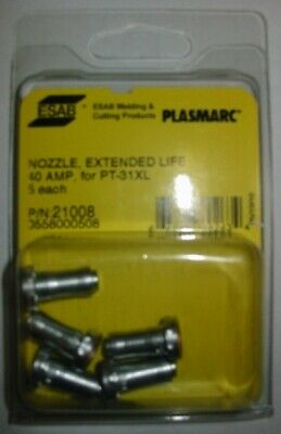 ESAB 21008 NOZZLE 40A for PT-31XL PLASMA - QTY 5