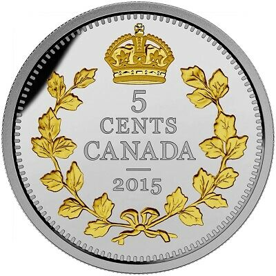 Legacy of the Nickel: Crossed Maple Boughs - 2015 Canada 5c Fine Silver Coin
