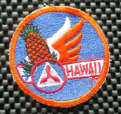 Vintage Embroidered Fabric Patch MAUNA KEA OBSERVATORIES HAWAII CLEARLY THE BEST