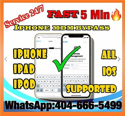 APPLE MDM BYPASS IPHONE /IPAD /IPOD iOS 12 4 SUPPORTED [INSTANT