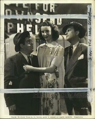 """1942 Press Photo Actor Lou Costello, Mary Wickes & Bud Abbott in """"Who Done It?"""""""
