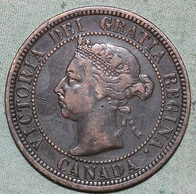 Canada 1890 H Large Cent~penny~Bronze~Combined S. & H.