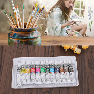 12 Color Acrylic Paint Set 6 ml Tubes Artist Draw Painting Pigment DIY Paint Set
