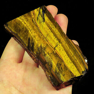 326.4Ct 100% Natural African Blue Yellow Tigereye Facet Rough Specimen YHY2380
