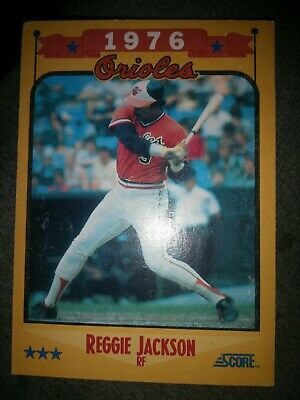Reggie Jackson Orioles 1976 Topps 2006 Gbscc Promotional Cards