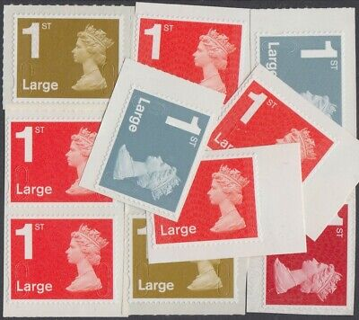 Great Britain Stamps for Postage - 10x1st class Large Self-adhesive Mint Stamps