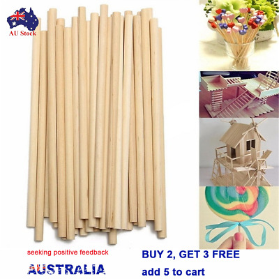 50/100pcs DIY Craft Durable counting stick Wooden Dowel Premium Round Wooden Rod