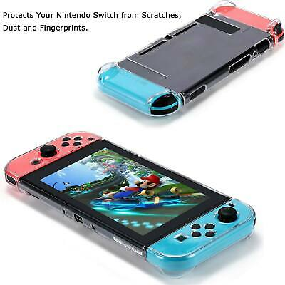 For Nintendo Switch Transparent Clear Shockproof Protective Hard Case Cover UK