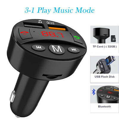 FM Transmitter Bluetooth KFZ Auto Freisprecheinrichtung Radio Adapter Car Kit
