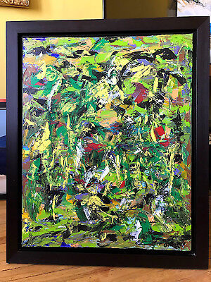 """Canadian Art Artist G Boutin Signed Oil Painting On Canvas 24"""" X 30"""" : Chez Ange"""