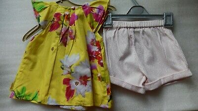 Ted Baker Baby Girls Matching Outfit Shorts & Top Gorgeous 2-3 years old, great.