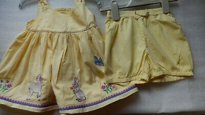 Monsoon Baby Girls Outfit Dress & Shorts age 2-3 years, excellent condition.