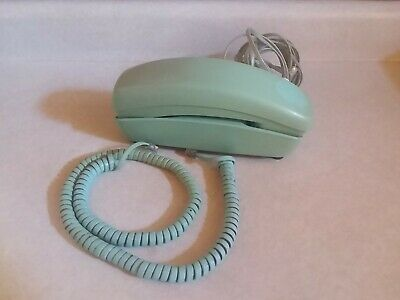 VTG Western Electric TRIMLINE Phone Turquoise Teal Rotary Dial Telephone WORKS