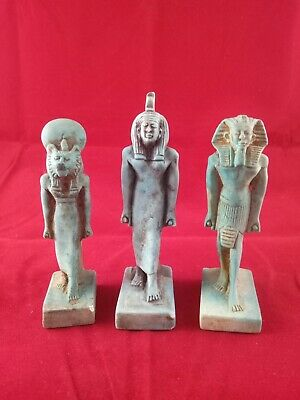 3 Ancient Egyptian Antiquities Statue  (1390–1352 B.C.E)