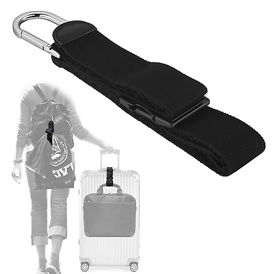 Add A Bag Luggage Strap Jacket Gripper, ZINZ D-Ring Hook Baggage Suitcase Straps