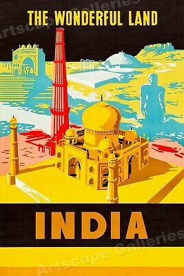 See India 1950/'s Charminar Hyderabad Vintage Classic Travel Poster 16x24