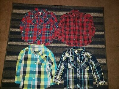 Lot Of 4 Toddler Boys Size 3T Old Navy/The Children's Place Flannel Shirts