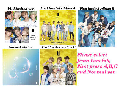 BTS Lights Boy with Luv Select from 5CD/ FC,First limited ver.A,B,C, Normal ver.