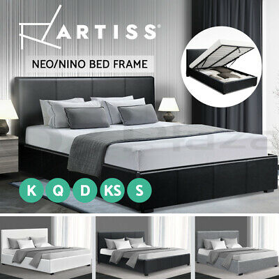 Artiss Single Double Queen King Size Gas Lift Bed Frame Base Storage Mattress
