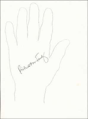 Richard H. Truly - Hand/Foot Print Or Sketch Signed