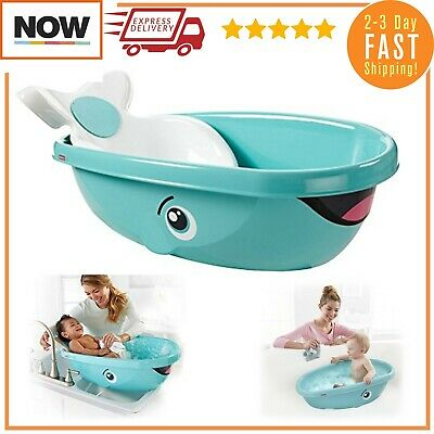 Fisher Whale Baby Kids Toddler Newborn Shower Bath Safety Seat Tub Bathtub