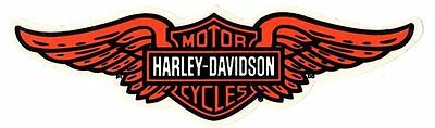 """8-3/8"""" Harley Davidson Winged Bar Shield Sticker Decal ~ Stick Most Anywhere!"""