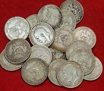 1911-1919 George V Sterling Silver Shillings Pick The Actual Coin You Want