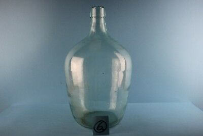 Alter Glasballon Weinballon  Transparent  Ca 5 Liter Nr 6