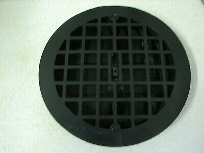 "Antique Round 9 1/2"" Cast Iron Floor Register Vent Grate REady to Install"