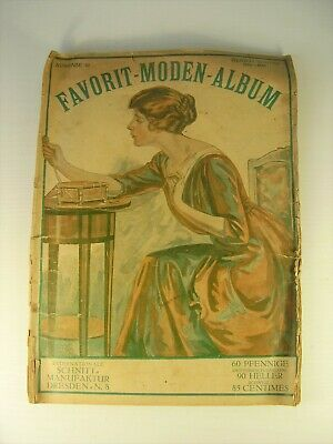 Antiker seltener Mode Katalog Favorit Moden Album von 1915 - 16