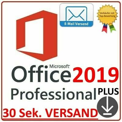 Microsoft Office 2019 Professional Plus✔️ Vollversion ✔️1 Lizenz Key✔️ Win 32 64