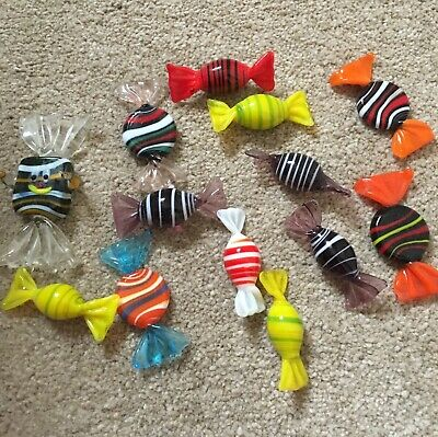 Vintage Murano Glass Sweets Party Candy Decorations Gift x 12